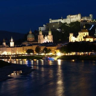 Salisburgo, vista di notte