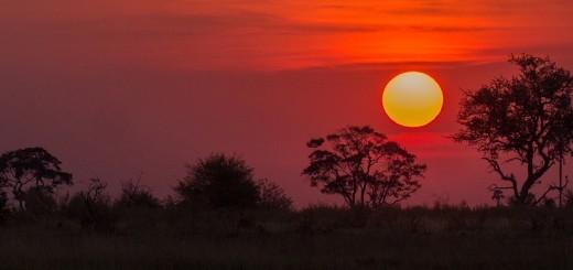 Botswana, tramonto