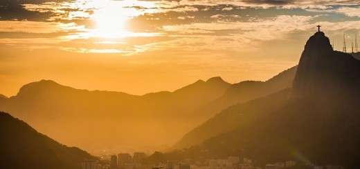 Brasile, Rio de Janeiro, tramonto