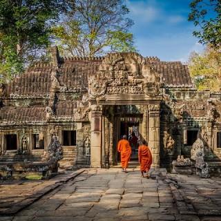 Cambogia, monaci buddhisti