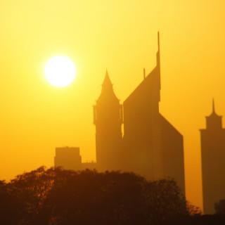 Dubai, tramonto