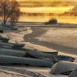Finlandia, paesaggio innevato