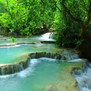 Laos, cascate
