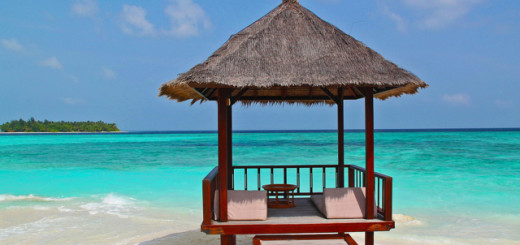Maldive, beach hut