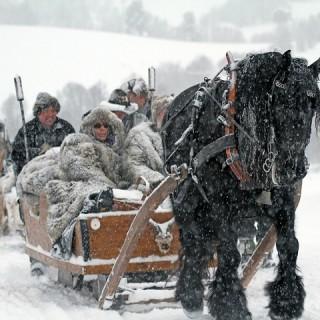Norvegia, slitte sulla neve