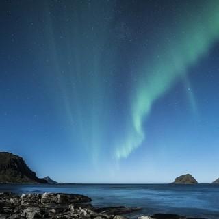 Norvegia, aurora boreale alle isole Lofoten