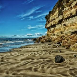 Tasmania, scogliera fossile