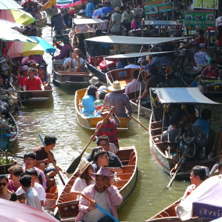Thailandia, mercato galleggiante